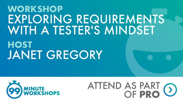 Ministry of Testing 99-min workshop